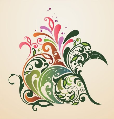 Abstract Design Floral Ornament Background