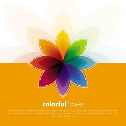 COLORFUL FLOWER VECTOR BACKGROUND.eps