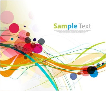Abstract Colorful Rounds and Waves Background