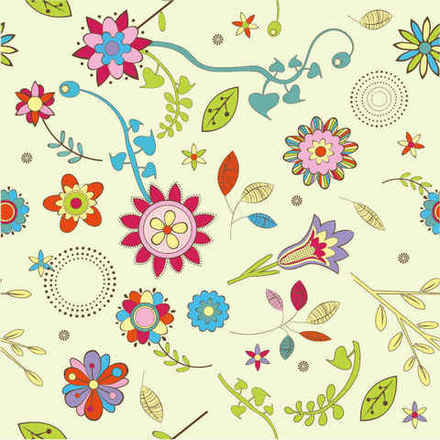 abstract flower pattern background