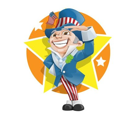 4th of July Vector Character