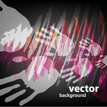 Hand Paints Abstract vector Backgrounds set 2