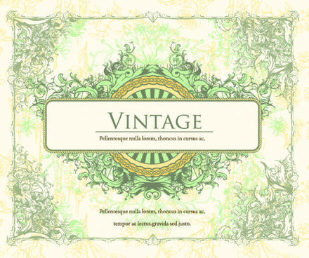 European Retro Ornate Pattern Vector Material 2 Background Label European