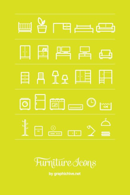 Furniture Icons (Vector)
