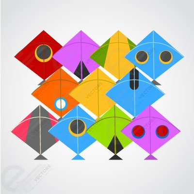 Vector Colorful kites