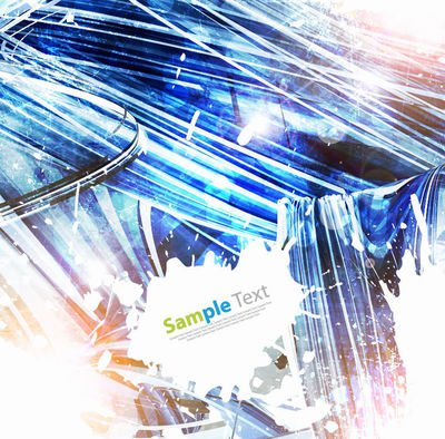 Abstract Crystallized Grunge Background