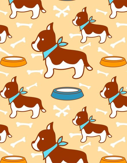 Tile Vector Super Cute Puppy