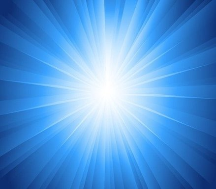 Sun Rays Blue Background