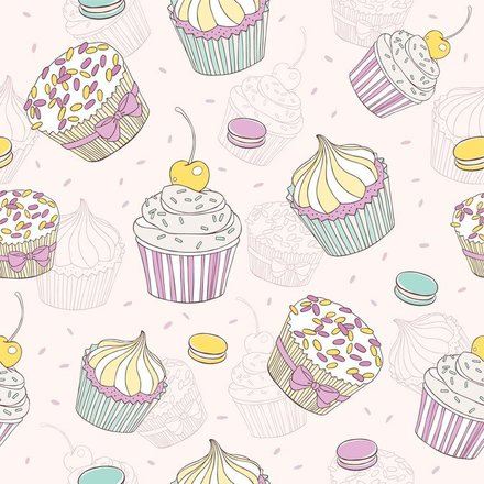 Cartoon Dessert Background