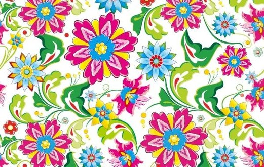 Showy Seamless Floral Vector Art Backdrop Background
