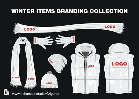Winter Items Vector Collection