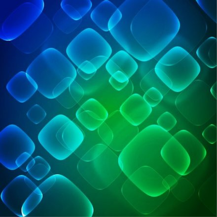 Virtual Technology Blue Green Abstract Background