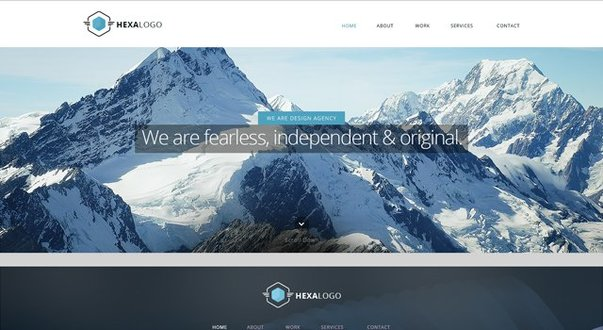 Hexa Website Template - Free PSD Web Design Templates - Submitted by Ephlux