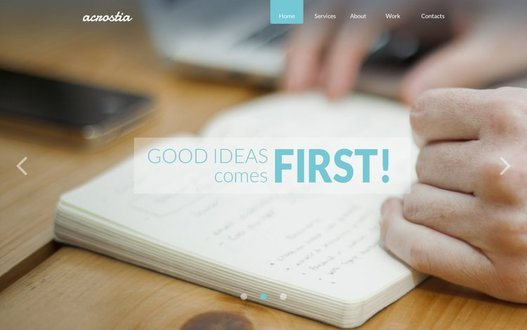 Acrostia Free One Page PSD Template