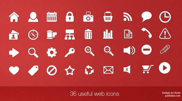36 useful web icons