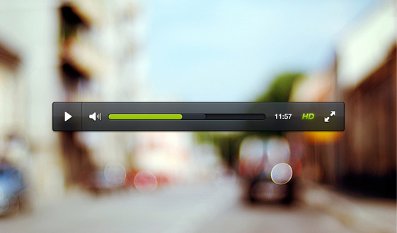 Video Player Psd Psd Free File Download Now