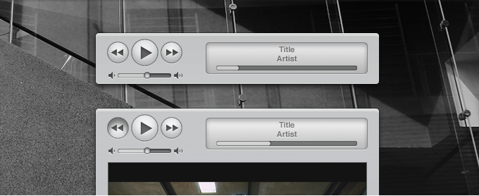 Apple iTunes Similar Media Controls and Interface