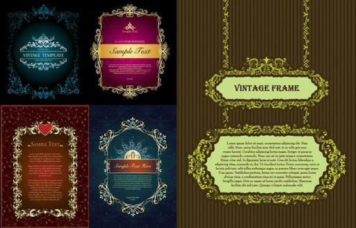 5 classical European-style lace