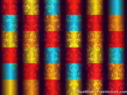 Abstract Damask Background