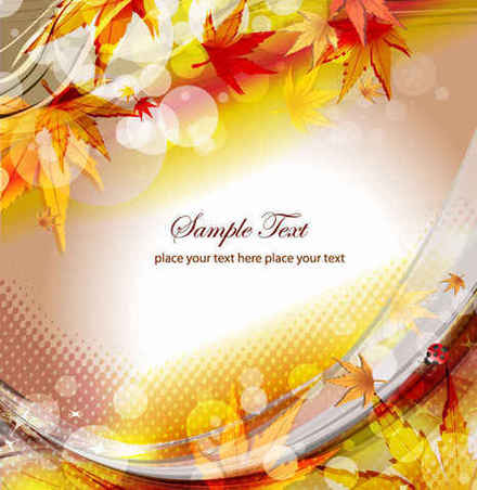 Free Vector Autumn Floral Background
