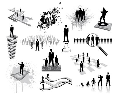 Silhouette Business and Career Oriented People Set