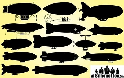 Dirigible Airship Pack Silhouette