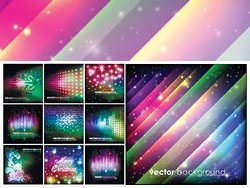 Colorful Vector Christmas background