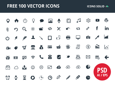 100 Free Vector Icons