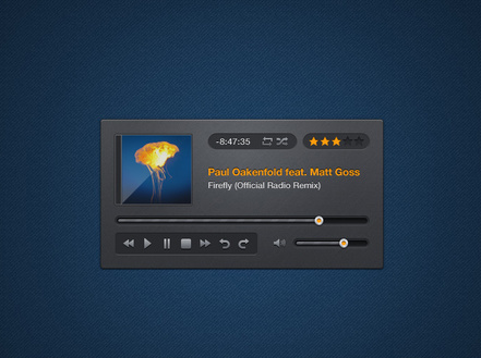 Music Player PSD