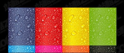 Vector water background material