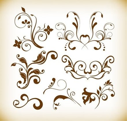 Floral Element Vector Graphics Collection
