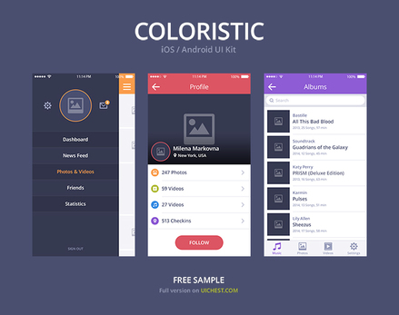Coloristic UI Kit for Sketch