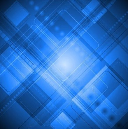 Blue Abstract Design Art Background