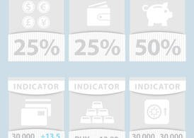 Financial Vector Indicator Banners