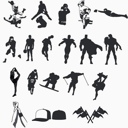 High Quality Sport and Hero Silhouettes Collection