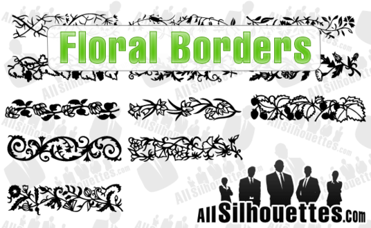 12 Floral Borders