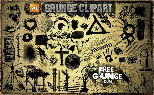 30 Vector grunge clipart