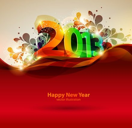 Free vector about happy new year-1