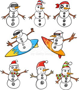 Snowman,Christmas,Winter,Vector,Set,Holiday,Illustrations And Vector Art,Snow,Hat