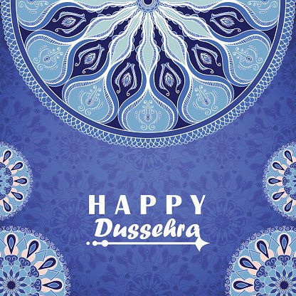 Vector greeting card to indian festival happy dussehra stock vectors vector greeting card to indian festival vijayadashami happy dussehra m4hsunfo
