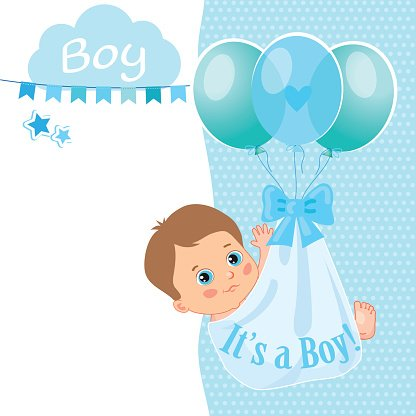 Baby Boy Shower Card Vector Card Stock Vectors  PsdCom