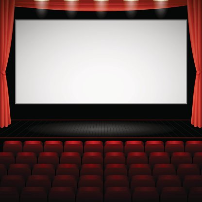 Cinema Auditorium With Screen And Stock Vectors 365psd Com