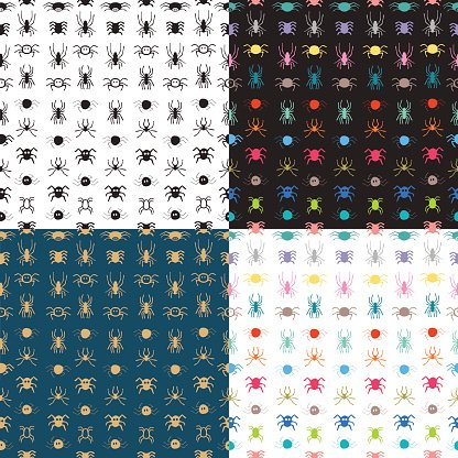 Square,Spooky,Computer Graphics,Animal,Shock,Cartoon,Animal Themes,Design Professional,Illustration,Animal Markings,Spider,Computer Graphic,Seamless Pattern,Horror,Clip Art,Halloween,Animals Hunting,Terrified,Vector,Animated Cartoon,Design,Pattern