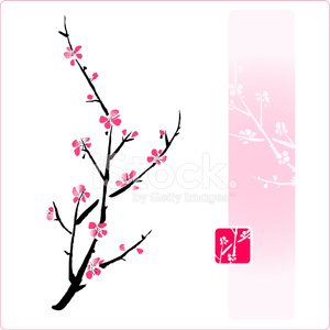 Blossom,Plum Blossom,Peach Blossom,Zen-like,Watercolor Painting,Flower,Single Flower,Tree,East Asian Culture,Paintings,Floral Pattern,Painted Image,Ink and Brush,Vector,sumie,Ink,oriental style,Nature,Plant,Beauty In Nature,Botany,Twig