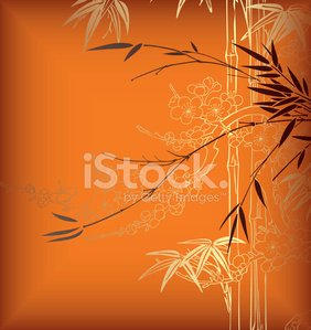 Bamboo,Japanese Culture,Chinese Culture,Backgrounds,Cherry Blossom,East Asian Culture,Flower,Design,Orange Color,Vector,Abstract,Gold Colored,Computer Graphic,Ilustration,Leaf,Vector Florals,Illustrations And Vector Art,Vector Backgrounds