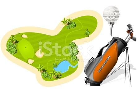 Miniature Golf,Golf,Golf Course,Golf Bag,Directly Above,Plan,Playing Field,Sand Trap,Vector,Golf Club,Putting Green,Equipment,Sports And Fitness,Golf,Lawn,Tee,Golf Ball,Sketch,Sport