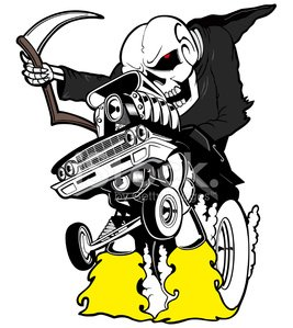 Grim Reaper,Car,Drag Racing,Human Skeleton,Cemetery,Halloween,Motorsport,Spooky,Tire,Tree,Depression - Sadness,Death,Dragging,Riding,Tombstone,Telephone,Smoke - Physical Structure,Nitrogen,Exhaust Pipe,sythe,Wheel,Land Vehicle,supercharged,Fossil Fuel,morbid,Speed,Mile,Concepts And Ideas,Transportation,Amusement Park Ride,Objects/Equipment,Natural Gas,Eternity