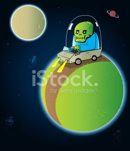 Alien,Space,Planet - Space,Vector,Sky,Star - Space,Car,Galaxy,Vector Cartoons,Travel Locations,Ilustration,Illustrations And Vector Art