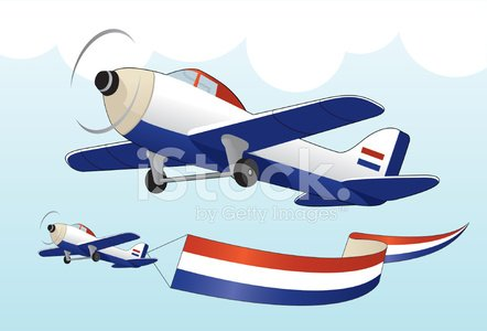 dutch plane with flag stock vectors 365psd com