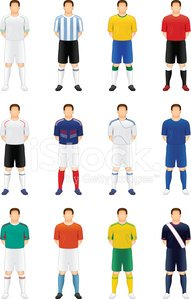 Soccer Player,Soccer,Sports Uniform,Sports Team,Sport,People,Vector,Front View,Team Sports,Vector Icons,Sports And Fitness,Competitive Sport,Ilustration,Illustrations And Vector Art